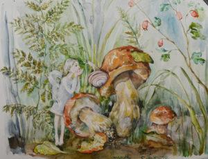 ангел и грибы