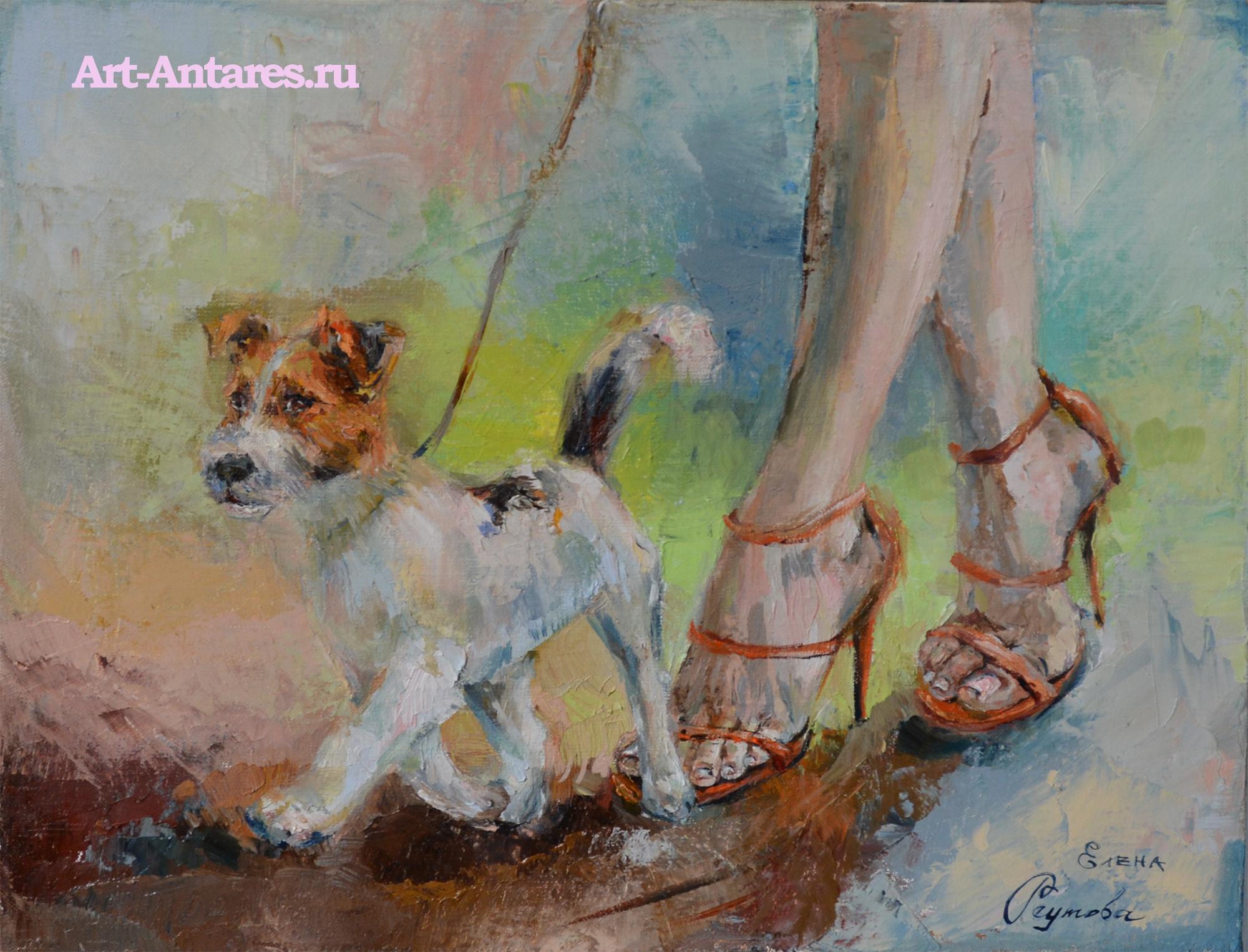 Картина с собакой.