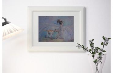 Девушка Ангел и кошка.