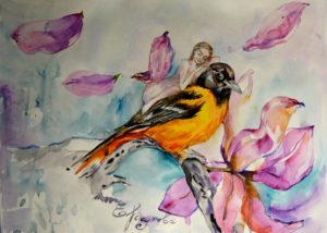 Продажа картины с птицей