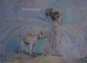 Ангел и кошка.