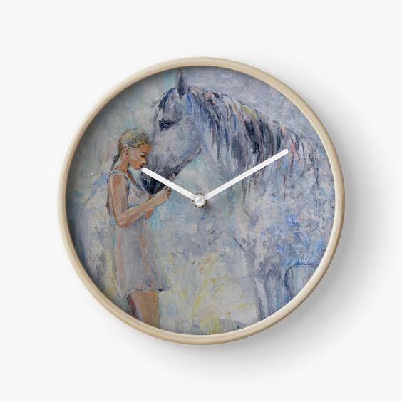 Часы с лошадью