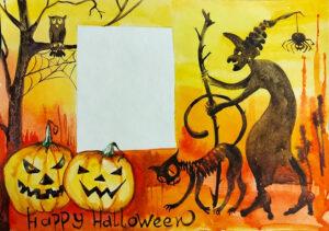 Открытка Хэллоуин