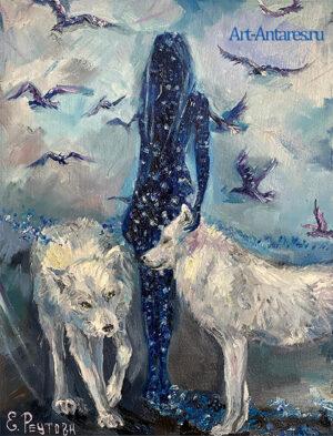 Полярные волки. Девушка космос и белые волки.