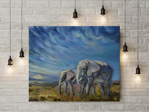 Слоны и небо.