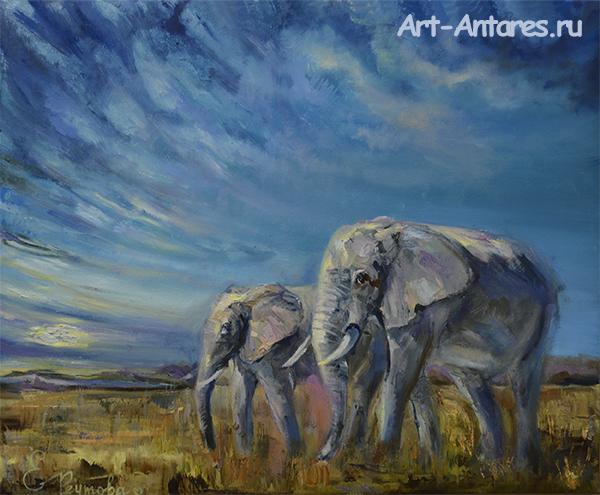 Два слона.