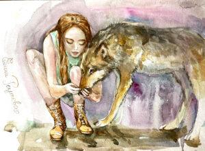 Напои меня водой. Девушка и ее волк.
