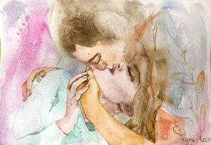 Поцелуй влюбленных.