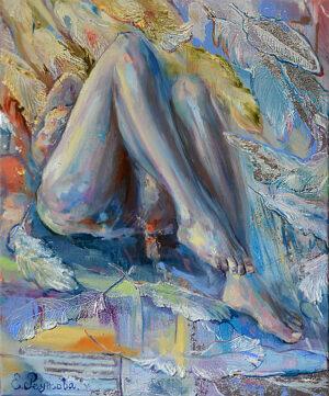 Женские ноги авторская картина.