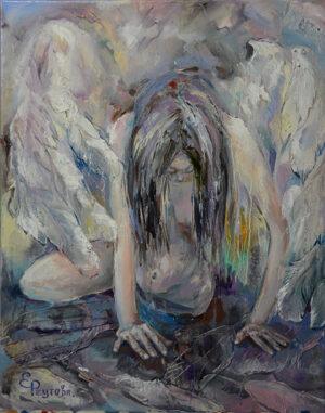 Хрупкая девушка Ангел.